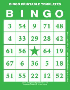 Bingo Printable Templates 4