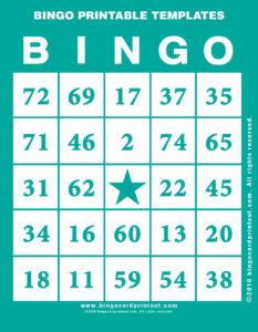 Bingo Printable Templates 5