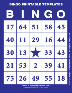 Bingo Printable Templates 6