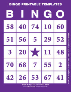 Bingo Printable Templates 7
