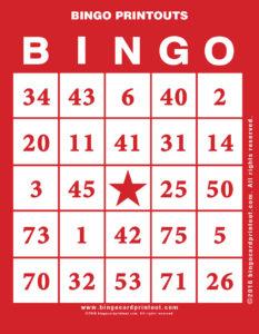 Bingo Printouts