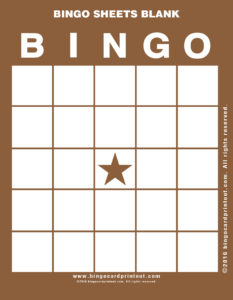 Bingo Sheets Blank 10
