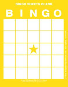 Bingo Sheets Blank 3