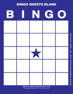 Bingo Sheets Blank 6