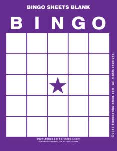 Bingo Sheets Blank 7