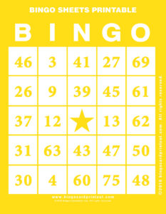 Bingo Sheets Printable 3