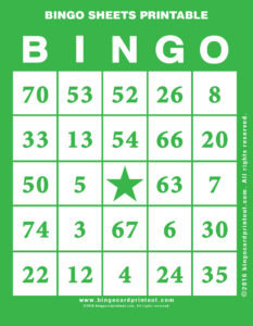 Bingo Sheets Printable 4