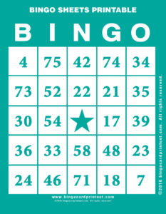 Bingo Sheets Printable 5