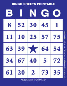 Bingo Sheets Printable 6