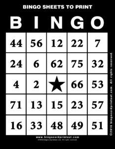 Bingo Sheets to Print 11