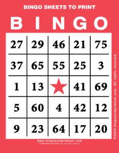 Bingo Sheets to Print 12
