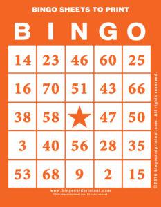 Bingo Sheets to Print 2