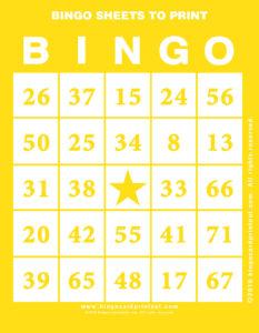 Bingo Sheets to Print 3