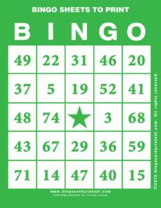 Bingo Sheets to Print 4