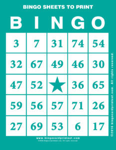 Bingo Sheets to Print 5
