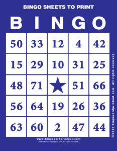 Bingo Sheets to Print 6