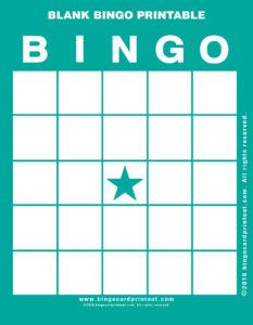 Blank Bingo Printable 5