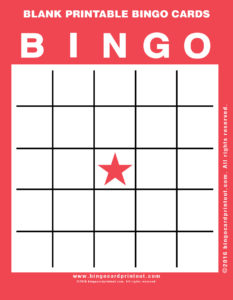 Blank Printable Bingo Cards 12