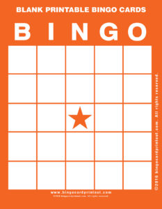 Blank Printable Bingo Cards 2
