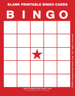 Blank Printable Bingo Cards