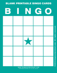 Blank Printable Bingo Cards 5