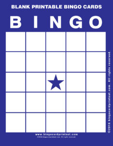 Blank Printable Bingo Cards 6