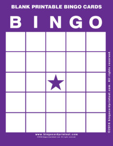 Blank Printable Bingo Cards 7