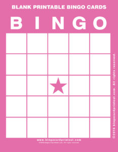 Blank Printable Bingo Cards 8