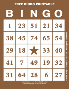 Free Bingo Printable 10