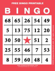Free Bingo Printable 12