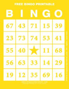 Free Bingo Printable 3