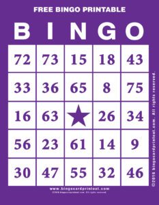 Free Bingo Printable 7