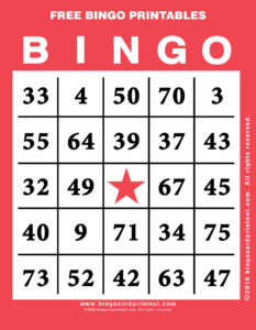 Free Bingo Printables 12