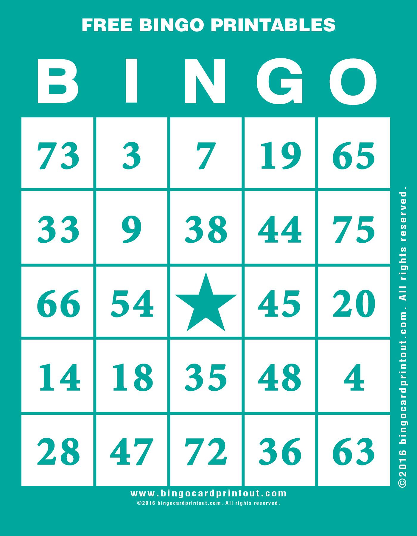 Free Bingo Printables - BingoCardPrintout.com