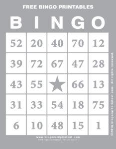 Free Bingo Printables 9