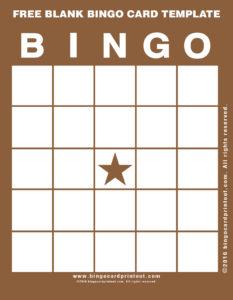 Free Blank Bingo Card Template 10