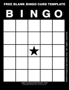 Free Blank Bingo Card Template 11
