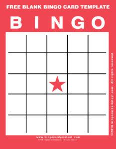 Free Blank Bingo Card Template 12