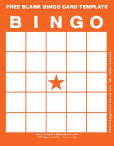 Free Blank Bingo Card Template 2
