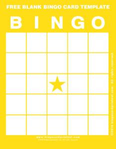 Free Blank Bingo Card Template 3