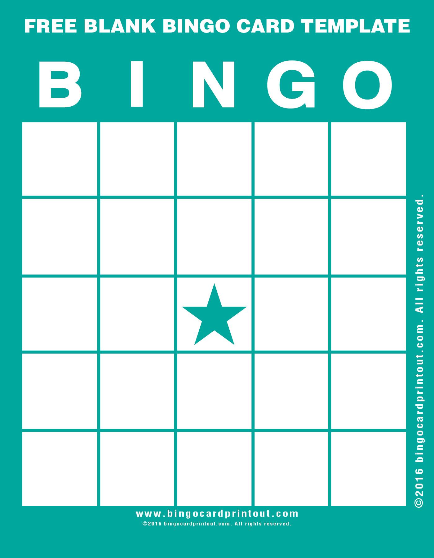 Free Blank Bingo Card Template Bingocardprintout Com