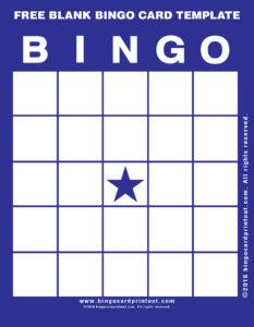 Free Blank Bingo Card Template 6