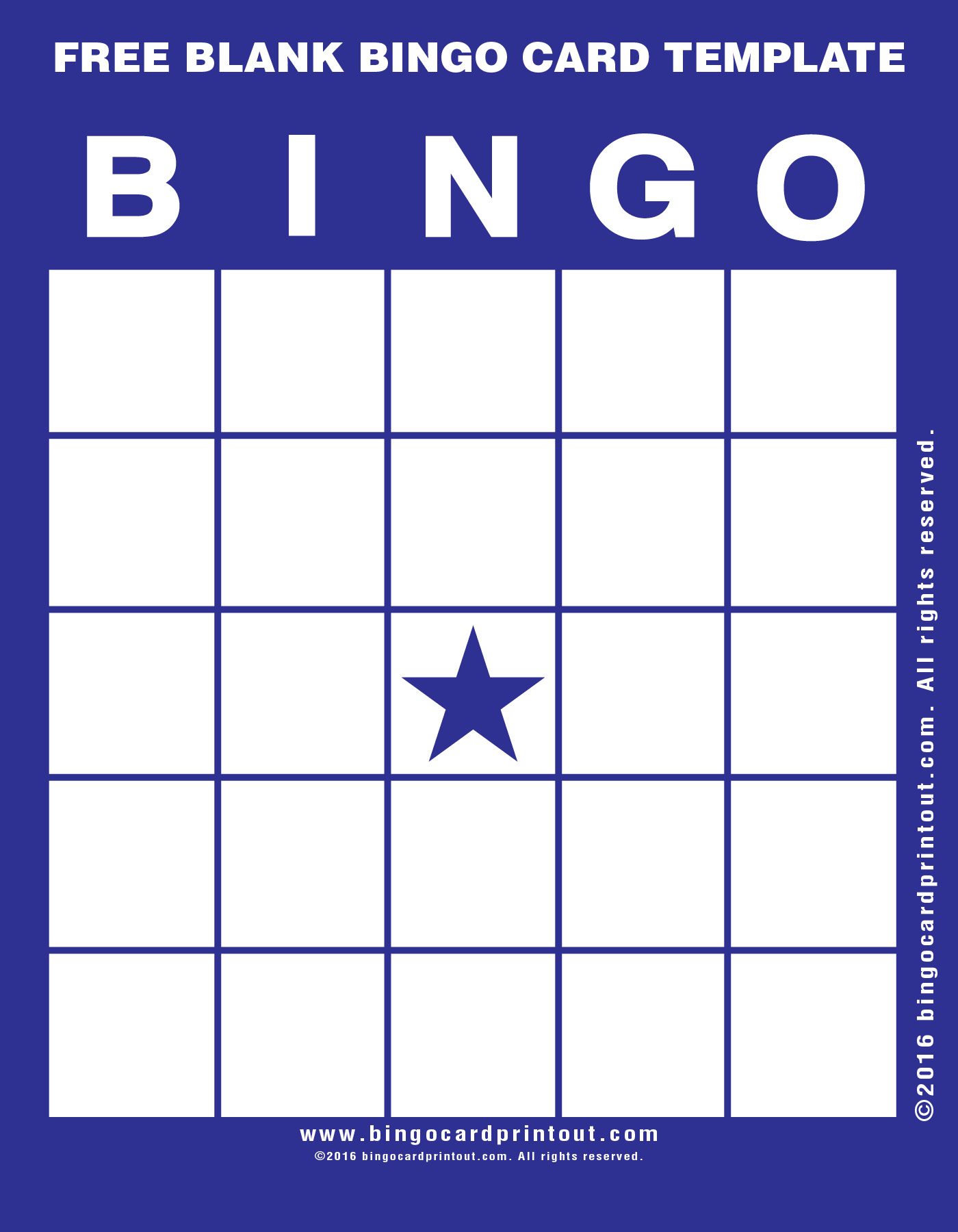 It's just a graphic of Stupendous Bingo Templates Free Printable