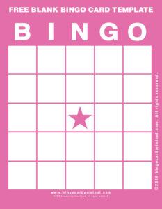 Free Blank Bingo Card Template 8