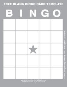 Free Blank Bingo Card Template 9