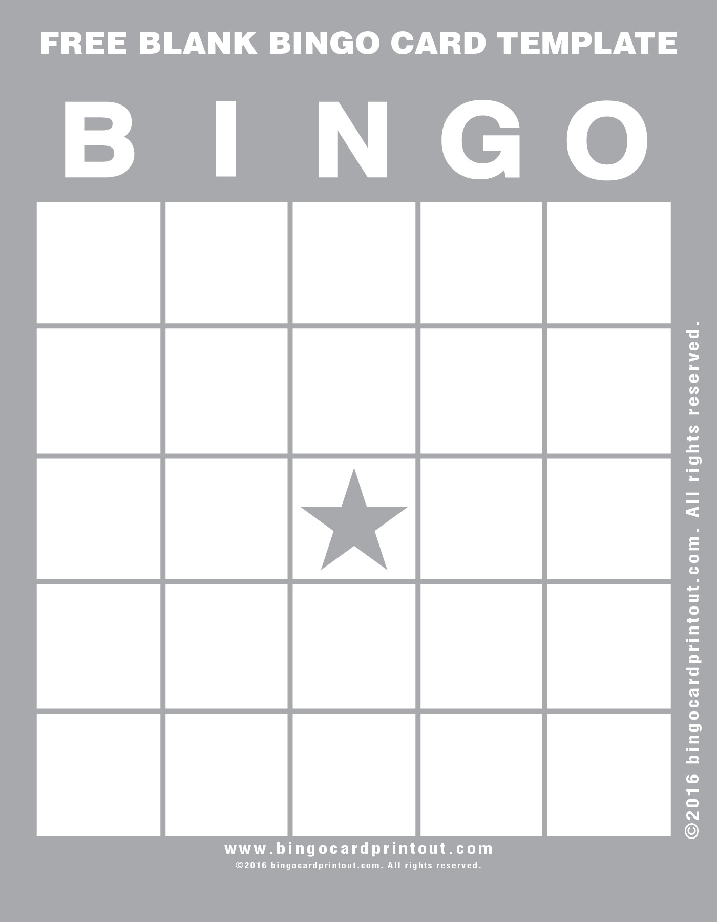 Make your next free blank bingo card template selection from one of ...