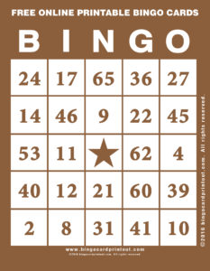 Free Online Printable Bingo Cards 10