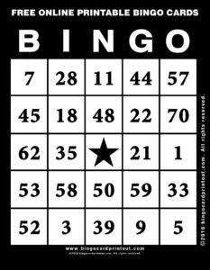Free Online Printable Bingo Cards 11