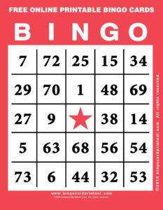 Free Online Printable Bingo Cards 12