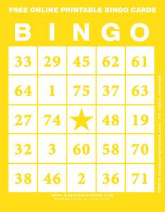 Free Online Printable Bingo Cards 3